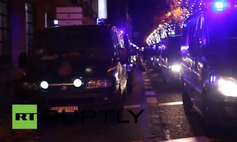 Violentos choques entre Policía y manifestantes en Madrid cerca del Congreso