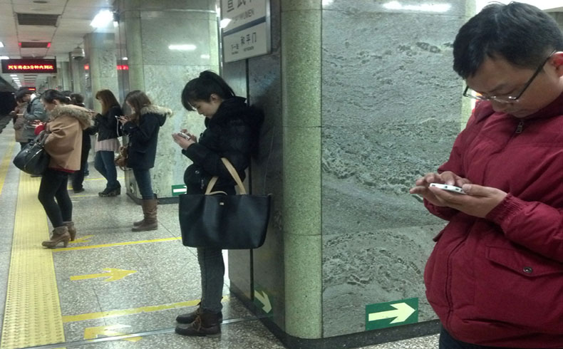 El 60% de los jóvenes chinos que usan móvil son menores de 30 años