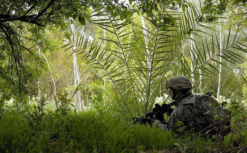 Un soldado estadounidense en Buhriz, durante la ofensiva contra el ISI en Diyala