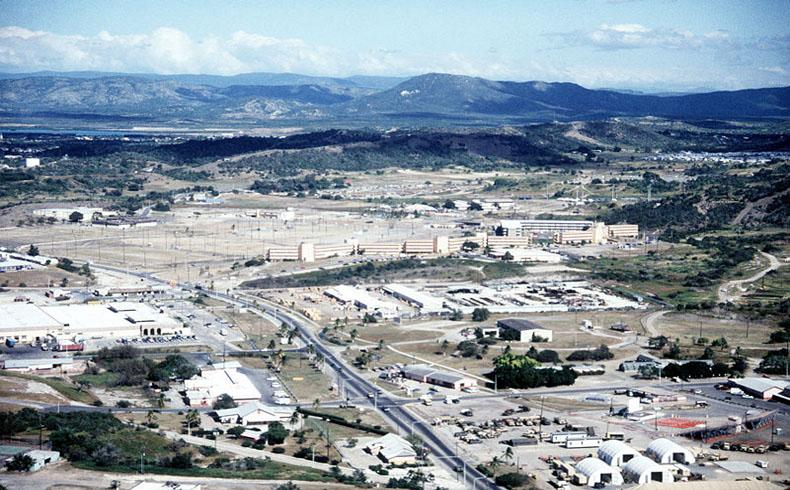 Vista general de la base naval de Guantánamo