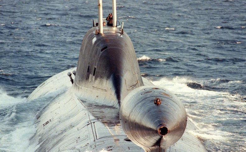 """Submarino ruso """"Akula"""" en el Ártico."""