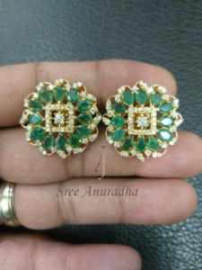 Diamond N Emerald tops // 1.2 carat diamonds
