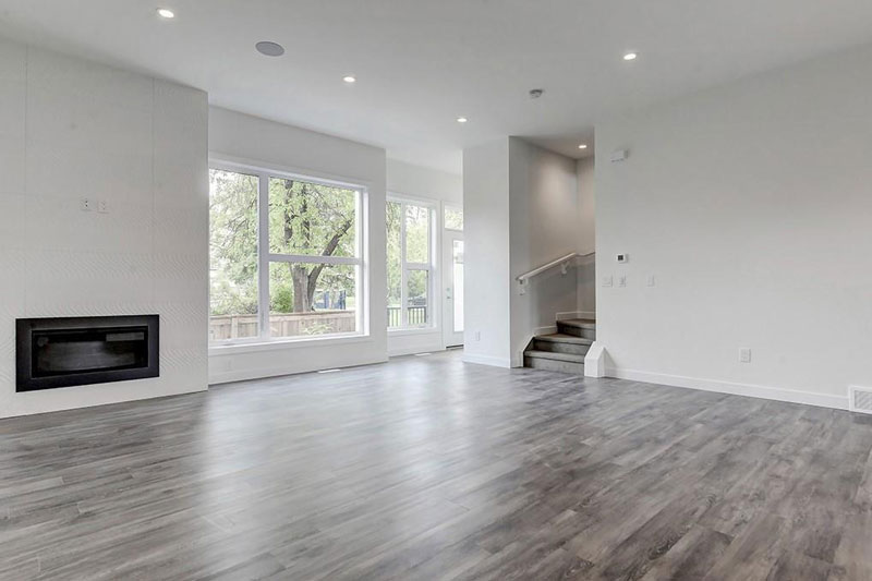 Luxury livingroom, newly renovated townhome by Red Tree Projects