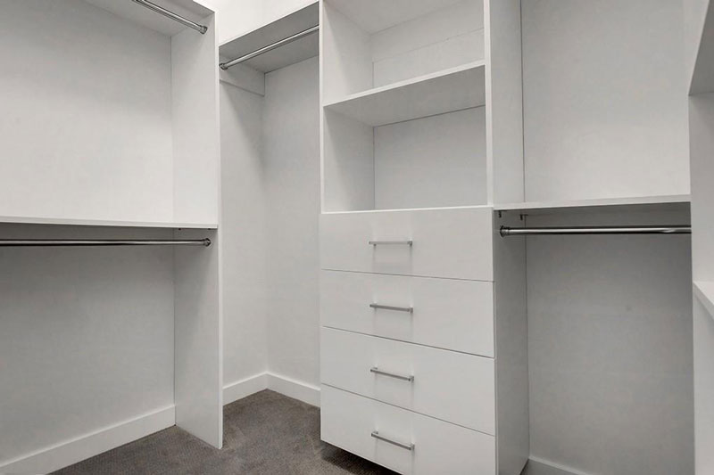 walk in closet design by Red Tree Projects