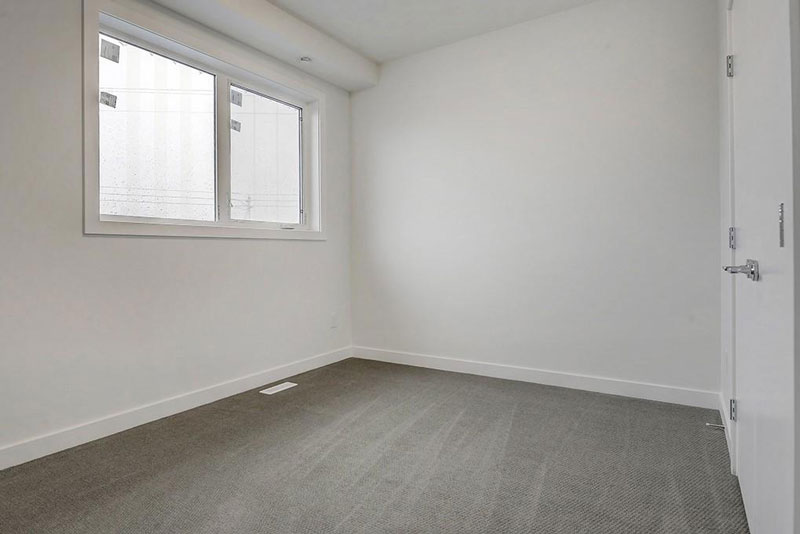 renovated bedroom example for townhome unit