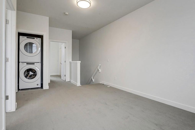 Renovated upper landing for townhome unit