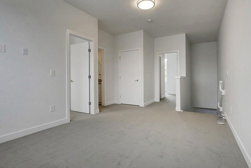 Upstairs landing to townhome unit in Calgary