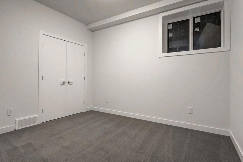 Newly renovated basement bedroom from red tree projects
