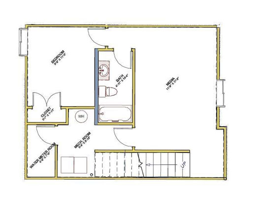 downstairs floor plan for red tree projects home unit