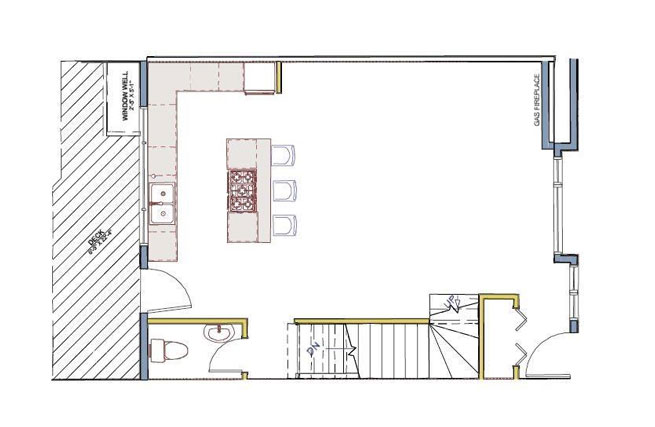 Floor plan for red tree projects townhome