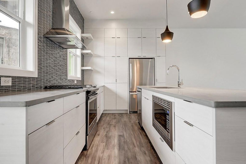 Newly renovated kitchen in downtown Calgary