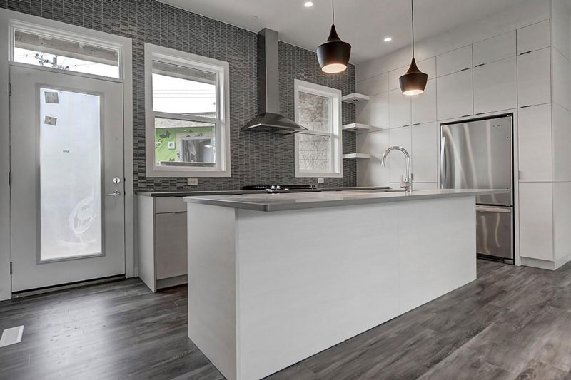 Newly renovated kitchen in Calgary townhome