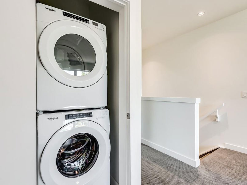 luxury in home washer and dryer units