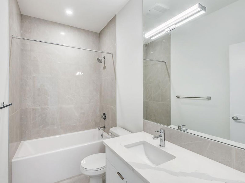 Newly renovated bathroom in Calgary townhome