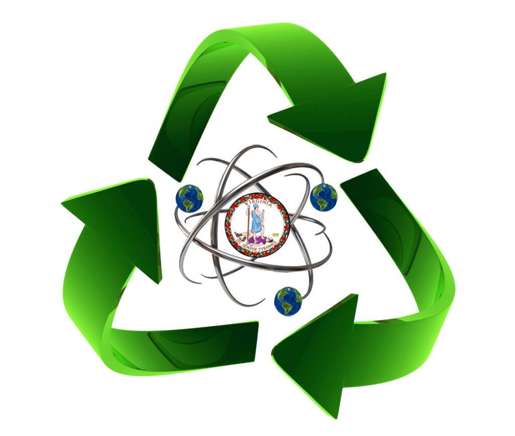 Recycle SNF Earths circles Virginia Logo
