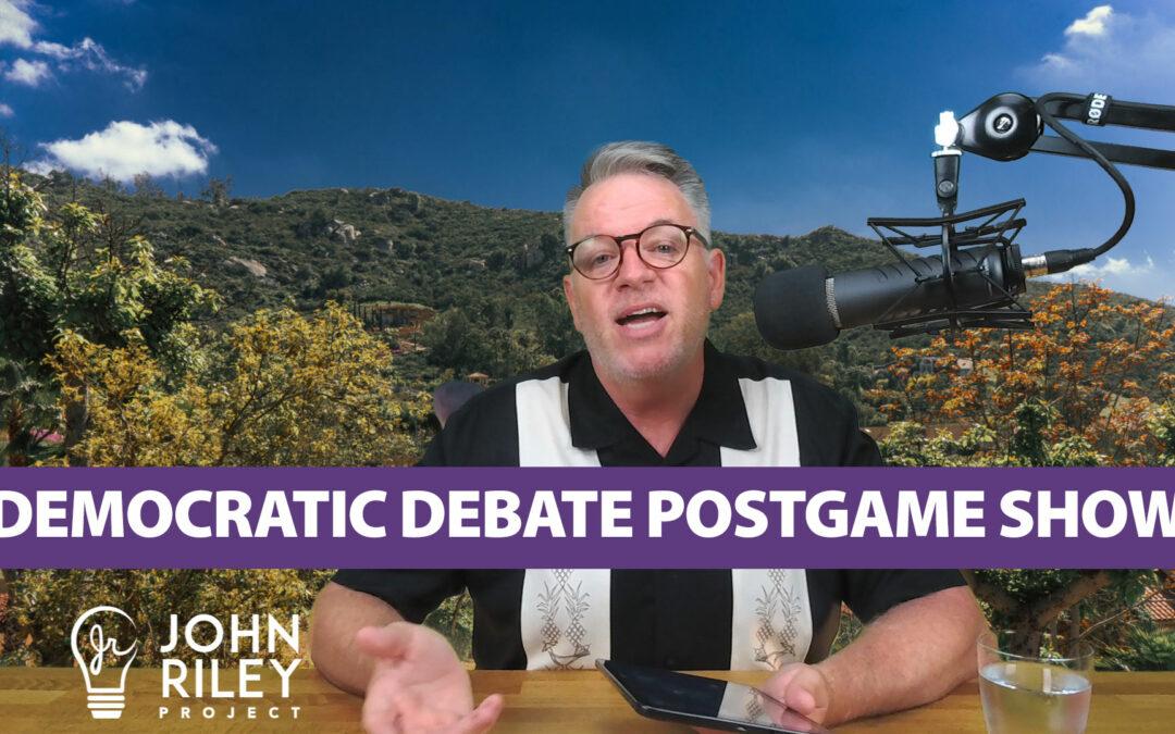 Democratic Debate Post Game, JRP0060