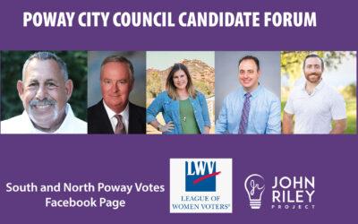 Poway City Council Forum, JRP0161
