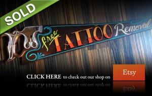 saw, sign, hand, painted, 1shot, wall, art, colorful, Etsy, pinstriping