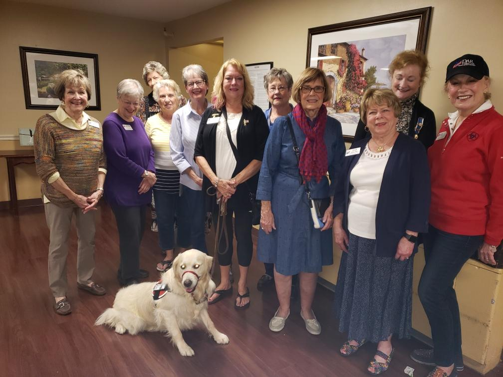 John Marshall Daughters delivering care packages to nursing home residents