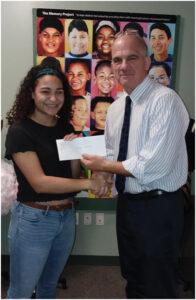 Pamela G Culver Global Diploma Travel Scholarship- awarded to Brooke Baptista and Lindsay Porter.