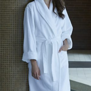 SPA PLUSH ROBE with collar