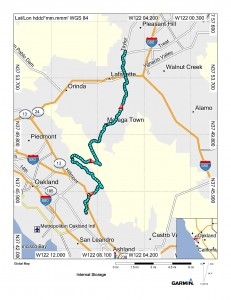 Map (San Leandro to Lafayette)