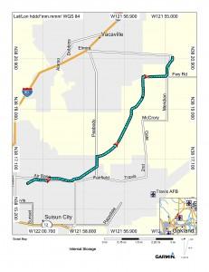 Map (Fairfield to Vacaville)