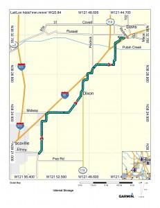Map (Vacaville to Davis)