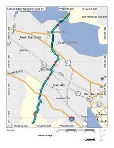 Map (Palo Alto to Fremont)