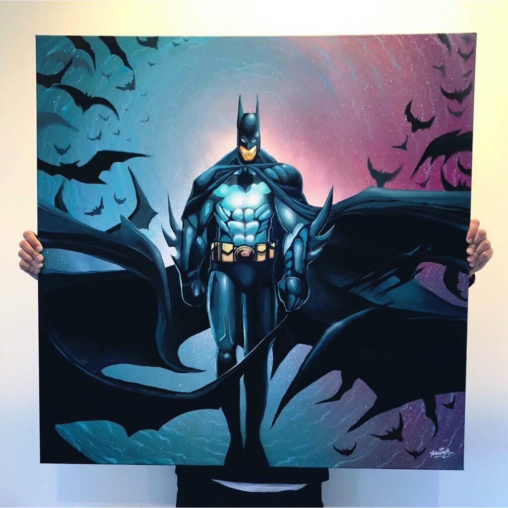 Bruce Wayne - Acrylic Paint and Spray Paint Airbrush by Yolocone