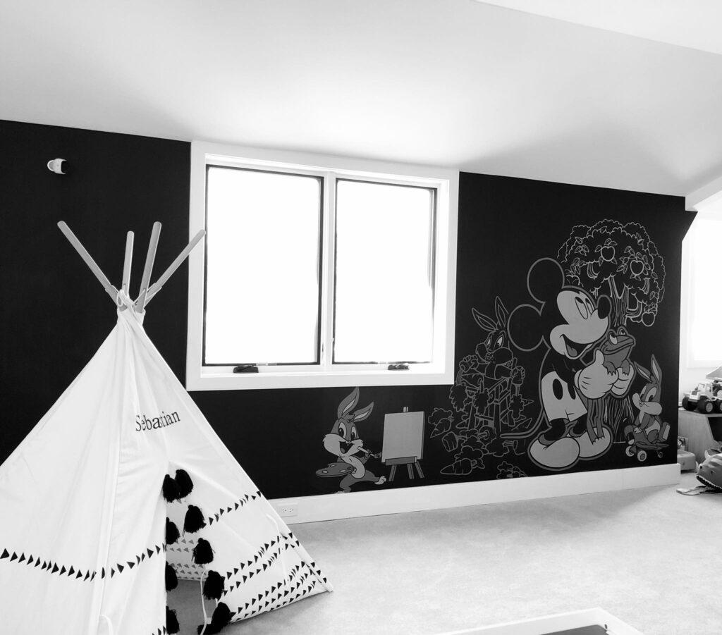 coloring chalk board wall project - chalk board paint