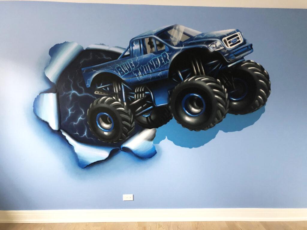 Blue Thunder Mural by Yolocone