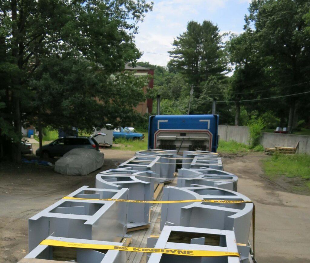 Ladder on truck en route