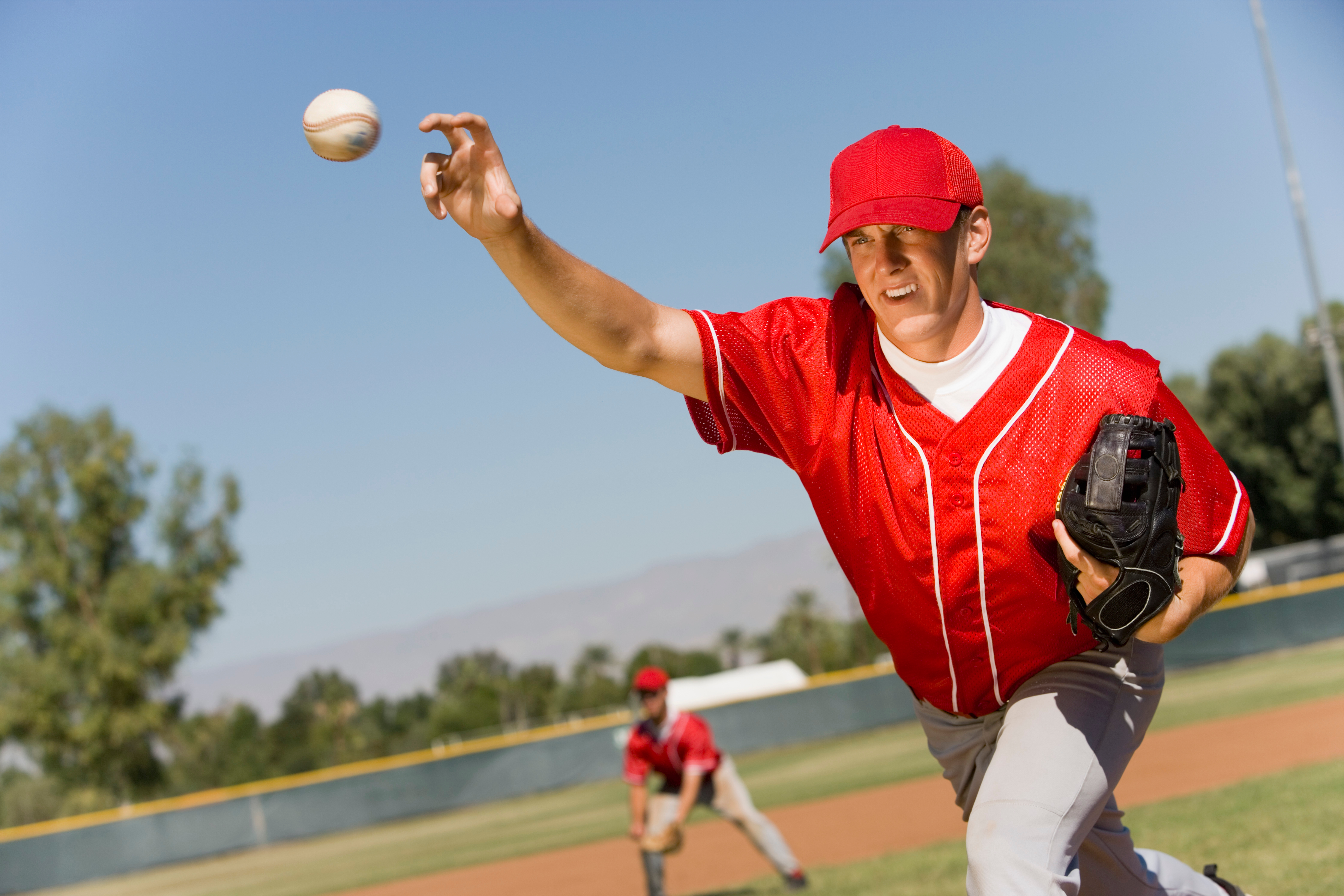 Pitcher Releasing Baseball