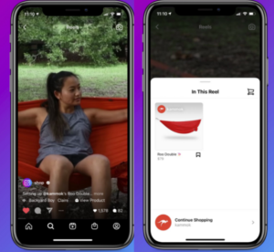 instagram reels shoppable link example video