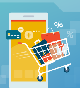 online shopping on a mobile device