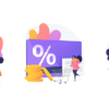 illustration of online shopping discounts graphics