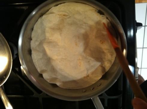 assembling the tortilla