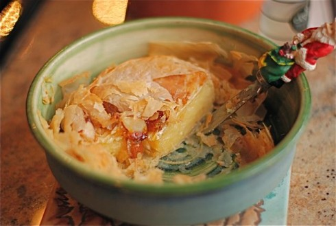Baked Brie in Filo