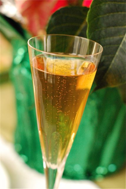 Champagne Cocktail with Meyer Lemon Syrup | The Naptime Chef