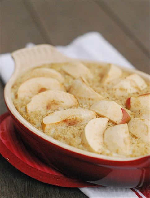 Apple Cinnamon Baked Oatmeal via The Naptime Chef
