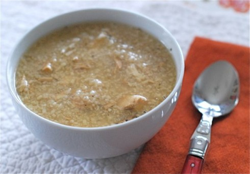 Slow Cooker Herbs de Provence Chicken & Rice Soup via The Naptime Chef