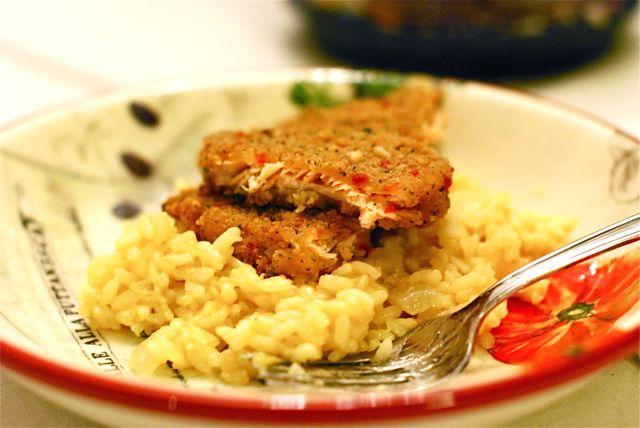 Mediterranean Salmon Risotto