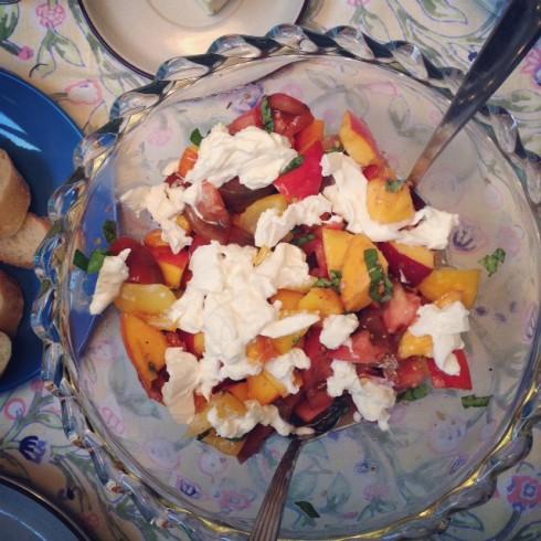 Peach Tomato & Burrata Salad
