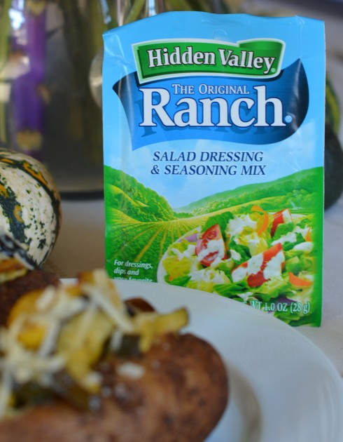 Ranch Vegetable Baked Potato