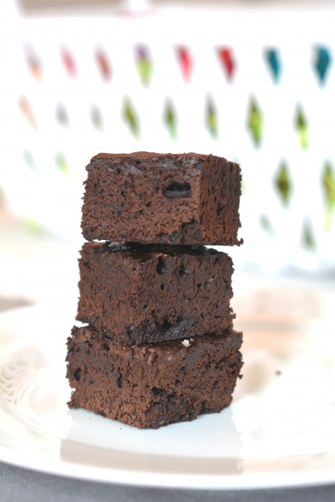 Salted Dark Chocolate Brownies   The Naptime Chef