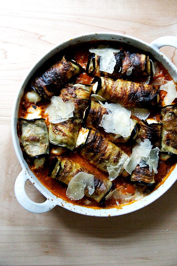 Eggplant Involtini by Alexandra Cooks