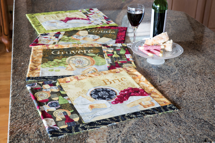 easy quilted gifts place mats