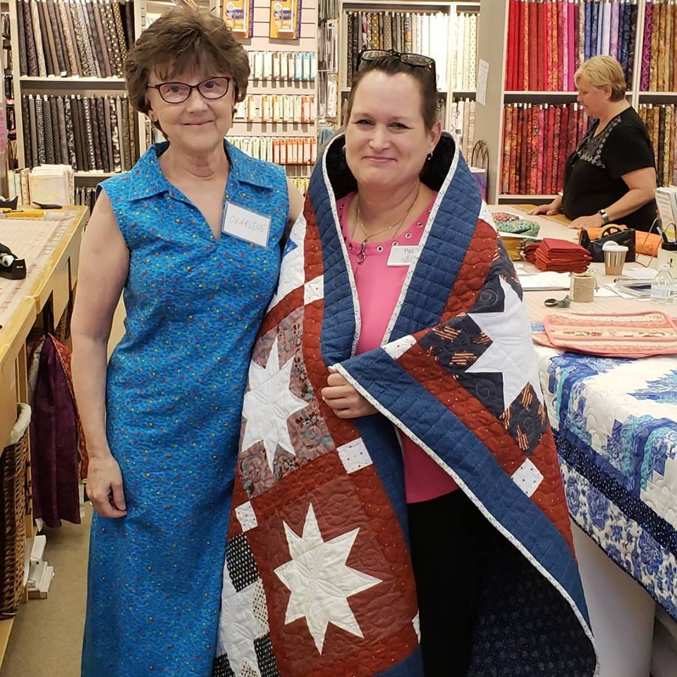 Pat Donnelly is Awarded a Quilt of Valor