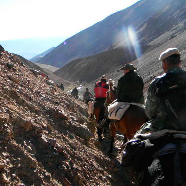 Una expedición por el cruce de Los Andes